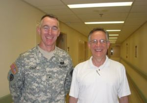 General Cheek and Dad (McGuire VAMC, 7/25/08)