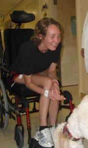 Greeting a Therapy Dog (McGuire VAMC, 8/7/08)