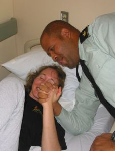 Arm Wrestling With Major Alves (McGuire VAMC, 10/13/08)